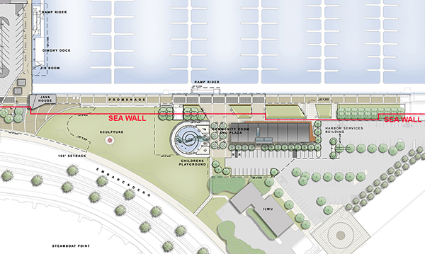Site plan of South Beach Harbor Building